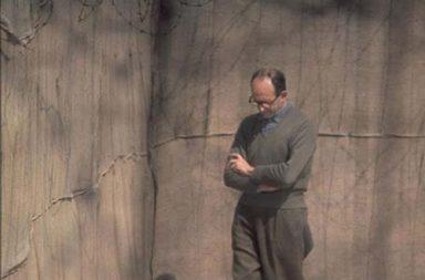 Adolf Eichmann walks around the yard of his cell, Israel, 1961