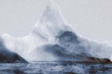 The iceberg that sunk the Titanic, 1912