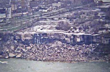 Niagara Falls without water, 1969