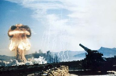 Atomic Annie firing the first atomic artillery shell, 1953