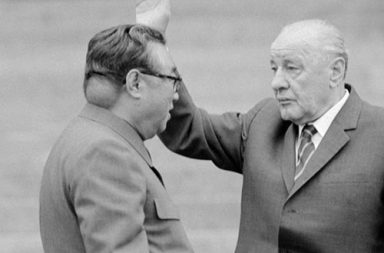 Rare photo of Kim Il-Sung's baseball sized tumor on his neck, 1980s