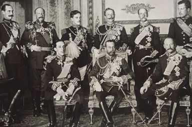 9 kings in one photo, 1910