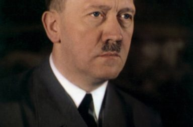A rare color photo of Adolf Hitler which shows his true eye color (date unknown)