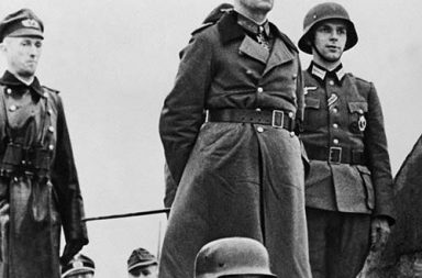 Erwin Rommel inspecting the defenses in Normandy, 1944
