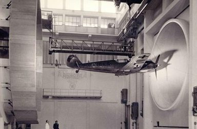 Germans testing a Messerschmitt Bf 109 E3, 1940