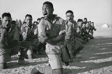 Maori Battalion haka in Egypt, 1941