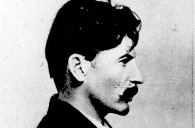 Joseph Stalin mugshot held by Okhrana, the Tsarist Secret Police, 1911