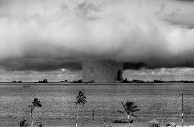 Underwater detonation of 23 kiloton nuclear weapon, 1946