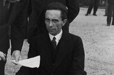 Eyes of Hate, a candid photograph of Goebbels after he finds out his photographer was Jewish, 1933