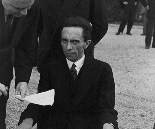 Eyes of Hate, a candid photograph of Goebbels after he ...
