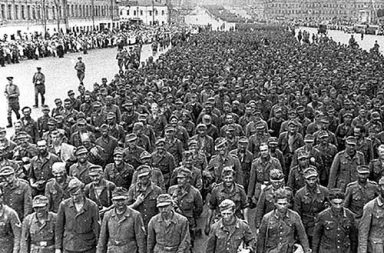 Parade of German prisoners of war in the streets of Moscow, 1944