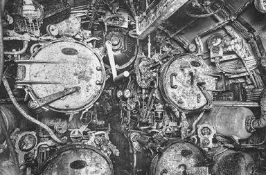 Inside the German U-boat 110, 1918