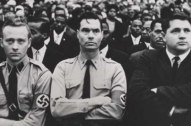 George Lincoln Rockwell and members of the American Nazi Party attend a Nation of Islam summit, 1961