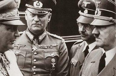 Hitler's birthday: Goering, Keitel, and Himmler wishing the Fuhrer, 1941