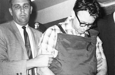 James Earl Ray, Martin Luther King's assassin, being led to his cell after his arrest in London, 1968