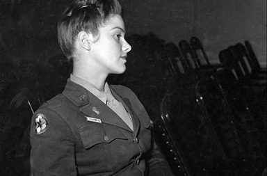 Lieutenant V. Rhodes of the WAAC at Fort Oglethorpe, 1943