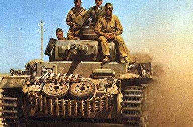 German Panzer III in the Western desert, 1942.