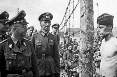 The Defiance: Himmler and a prisoner locked in a staring contest, 1941