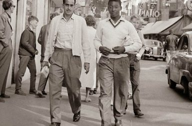 A 17 year-old Pele in Sweden before the 1958 World Cup
