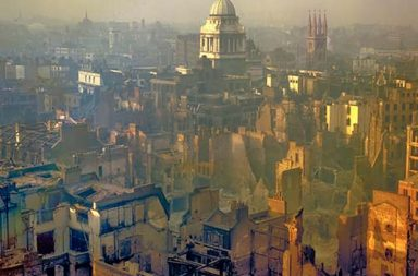 London after a German air raid, 1940