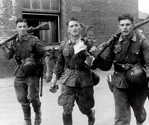 Image result for ww2 german soldiers with their backs to us