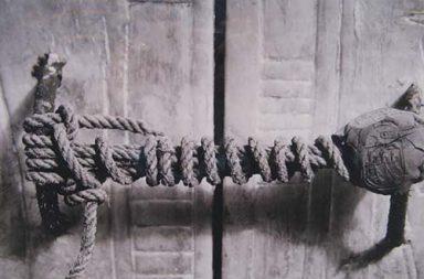 The unbroken seal of King Tutankhamun's tomb, 1922