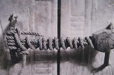 The unbroken seal of King Tutankhamun's tomb, 1922