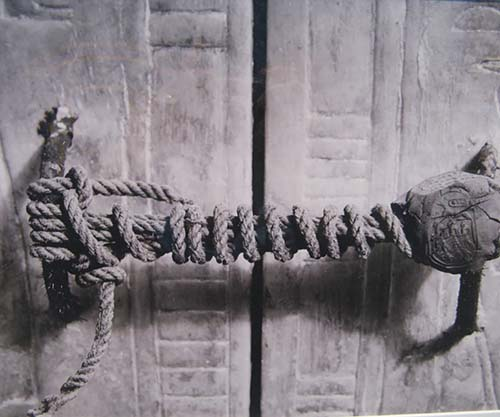 The unbroken seal on King Tutankhamuns tomb, 1922