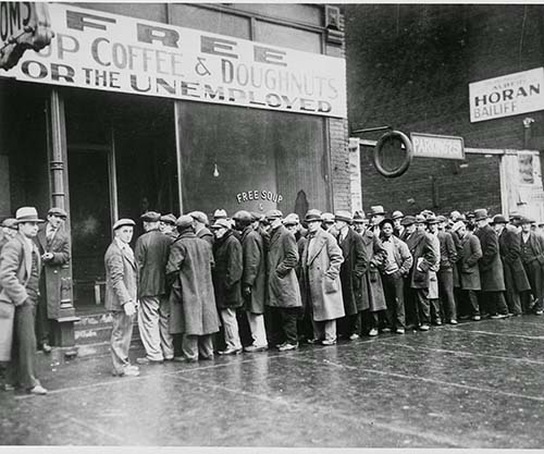 Al Capone's Soup Kitchen During The Great Depression, 1931