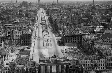 Berlin at the end of the War, 1945