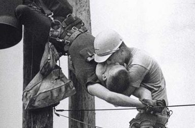 The Kiss of Life - A utility worker giving mouth-to-mouth to co-worker after he contacted a low voltage wire, 1967