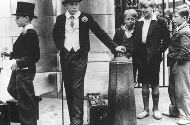 Toffs and Toughs - The famous photo by Jimmy Sime that illustrates the class divide in pre-war Britain, 1937