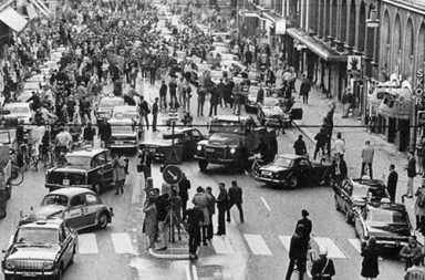 Dagen H, the day Sweden switched sides of the road, 1967