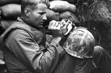 The marine and the kitten, Korean War, 1952