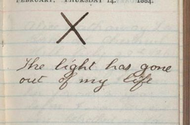 Theodore Roosevelt's diary the day his wife and mother died, 1884