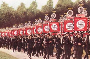 Nazis on parade.