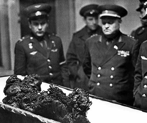 The remains of the astronaut Vladimir Komarov, a man who ...