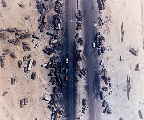 Highway Of Death, The Result Of American Forces Bombing