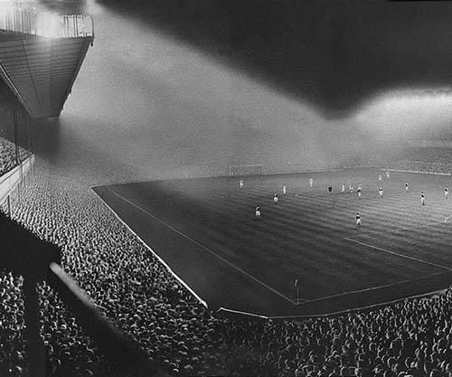 Vintage Stadium Lights: Highbury Stadium In London, 1951
