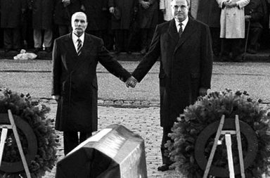 Kohl and Mitterand in Verdun, 1984
