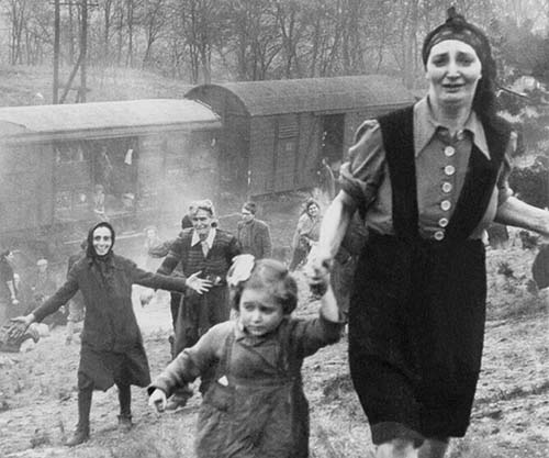 Jewish Prisoners After Being Liberated From A Death Train