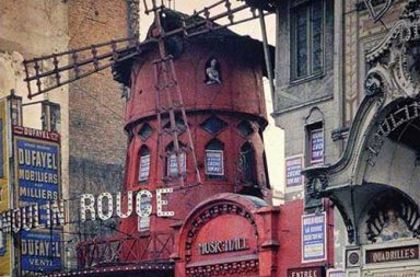The original Moulin Rouge the year before it burned down, 1914.