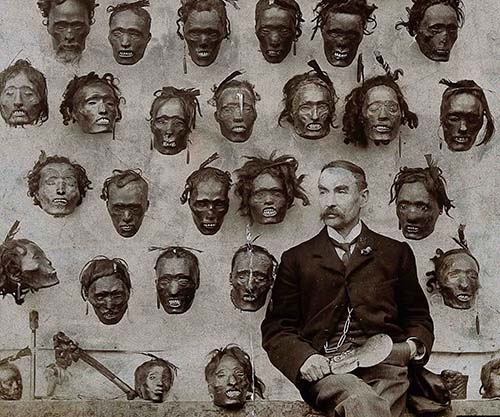 Image result for Horatio Gordon Robley with a collection of severed heads, 1895