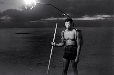 Night fishing in Hawaii, 1948