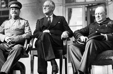The Big Three at the Tehran Conference, 1943