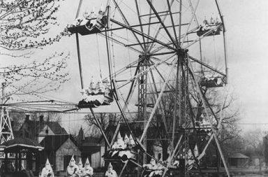Ku Klux Klan on a ferris wheel, 1926