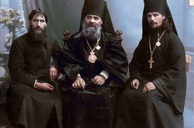 Grigori Rasputin, Bishop Hermogen and Hieromonk Iliodor in Tsaritsyn, 1906