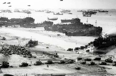 The picture that shows the colossal scale of the D-Day operation, 1944