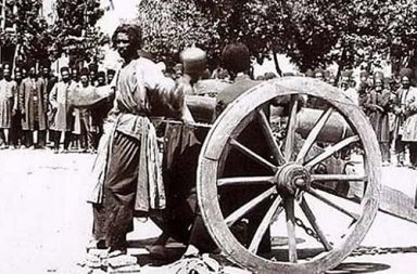 Execution by cannon in Iran, 1890s