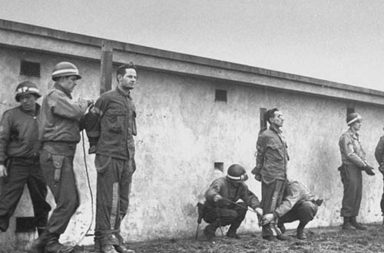 German commandos captured in American uniform are prepared for execution, 1944